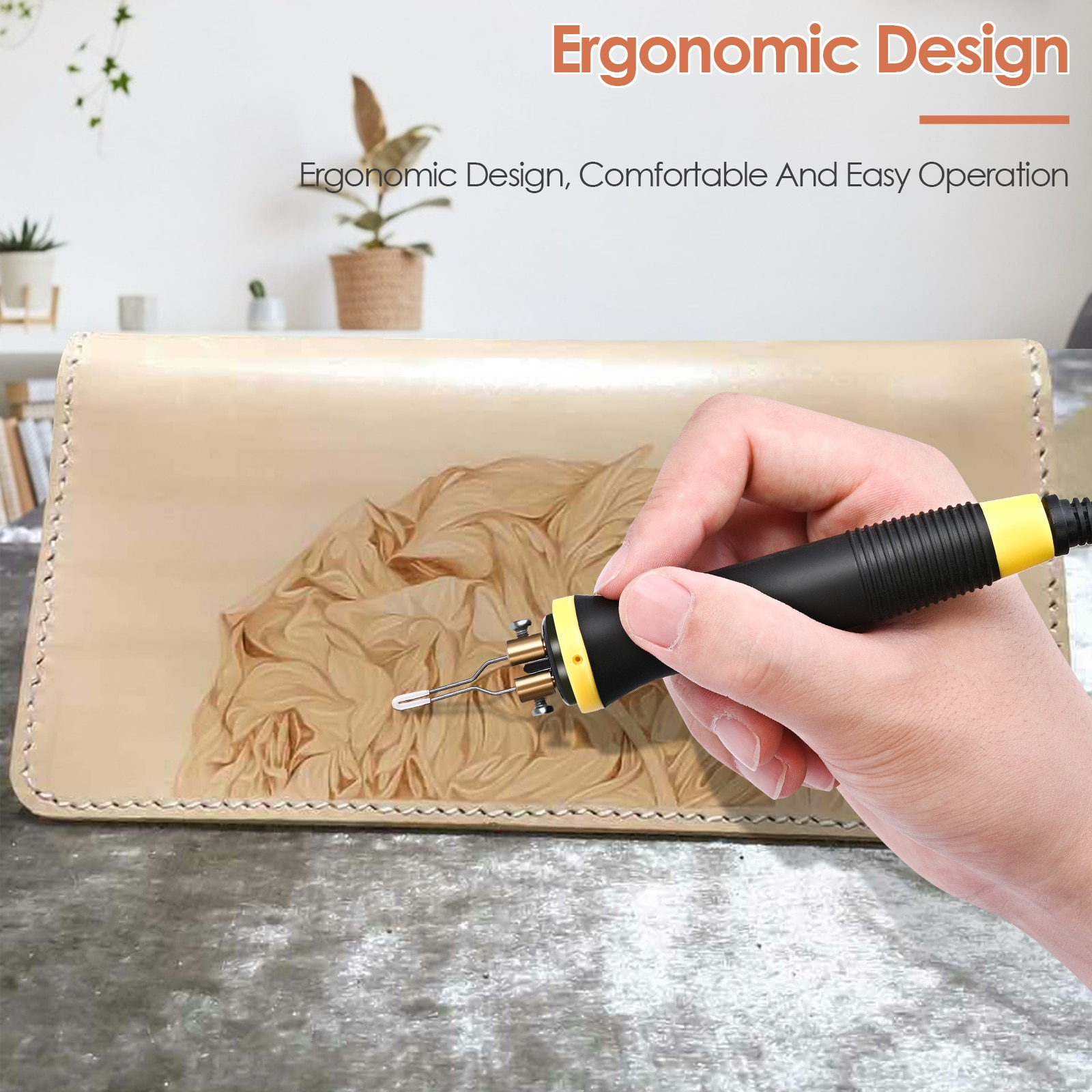 Wood Burning Kit Pyrography Machine With Digital Display Adjustable Temperature Double Socket Dual Pen Tool Box For Wood Leather enlarge