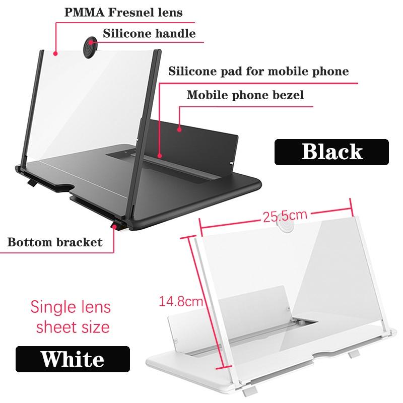 Купить с кэшбэком Orsda 10/12/14 inch HD Stylish Universal Screen Amplifier 3D Mobile Phone Screen Amplifier for All Mobile Phone Mag
