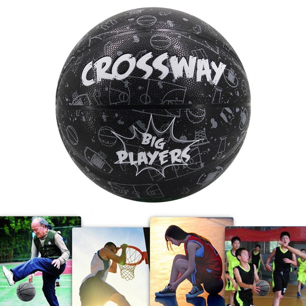 Баскетбольный мяч Crossway с милым принтом карамельных цветов Противоскользящий № 7 баскетбольный детский тренировочный баскетбольный мяч дл...