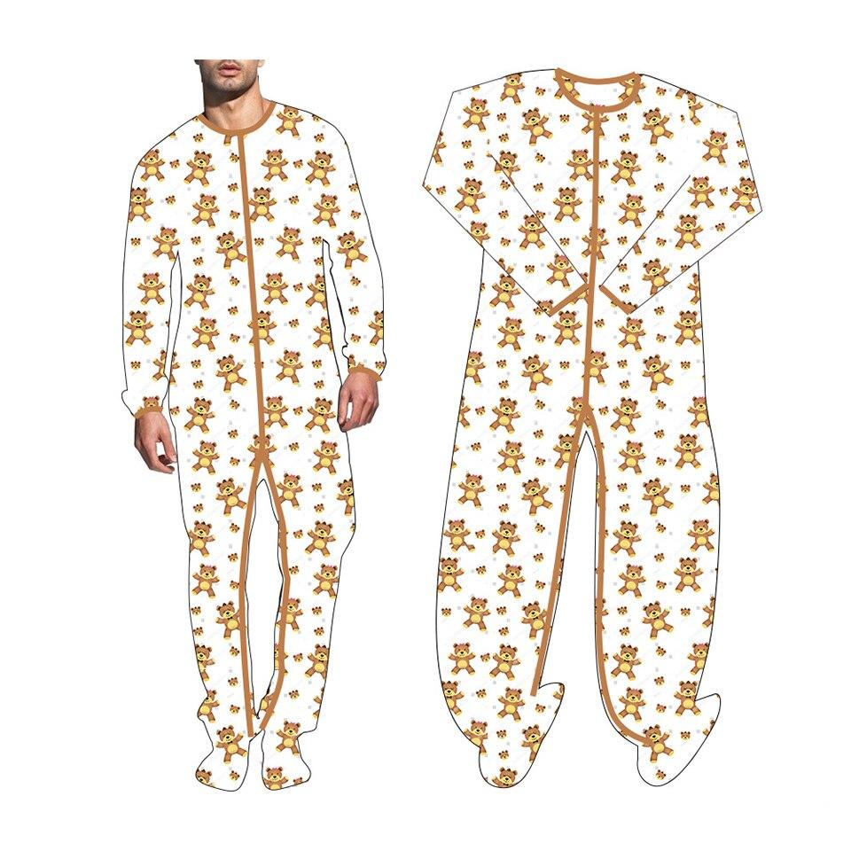 لعبة الزرافة للأطفال ، بدلة مطبوعة للقدم ، بذلة للكبار ، ملابس أطفال ، ملابس مطبوعة للكبار