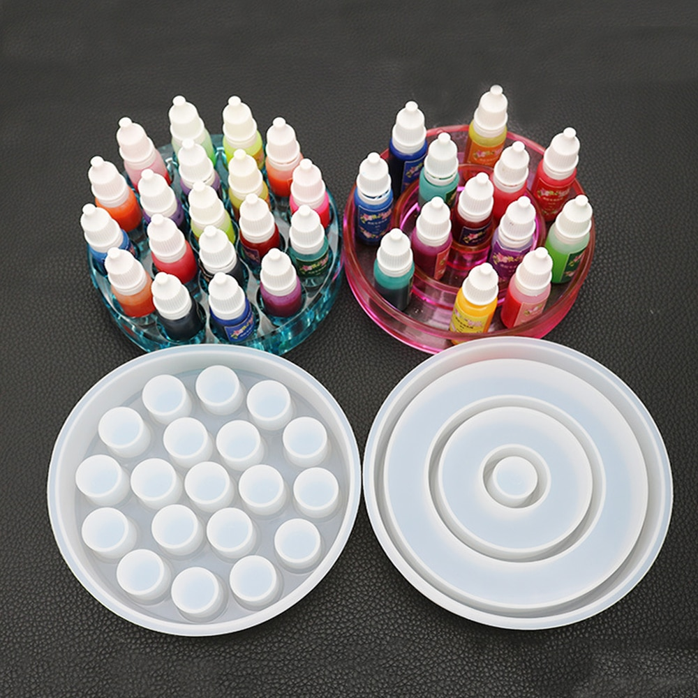 Cristal epoxi molde Color caja de almacenamiento de lápiz labial caja de resina molde hecho a mano DIY pegamento molde