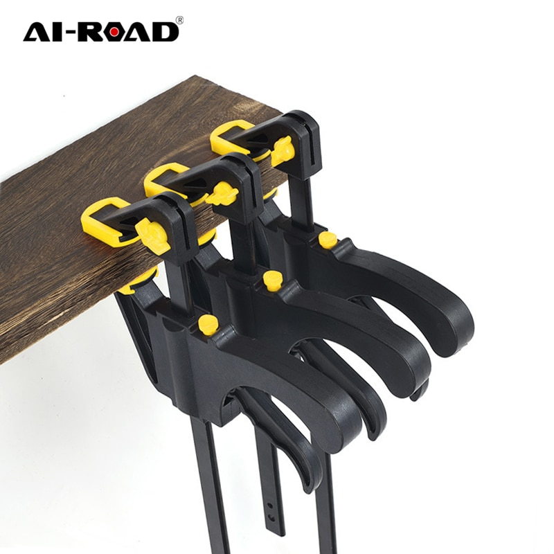 AI-ROAD 1PC Clip 4 Inch F Clamp Woodworking Clamp Bar Quick Ratchet Release Speed Squeeze Kit Spread