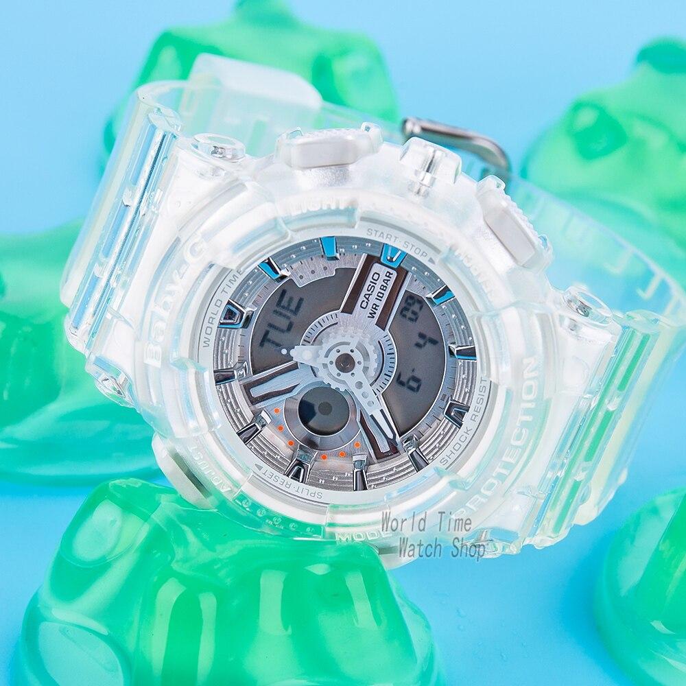 Casio watch g shock women watchesJelly strap ladies watch 100m Waterproof LED digital Quartz watch women reloj mujer enlarge