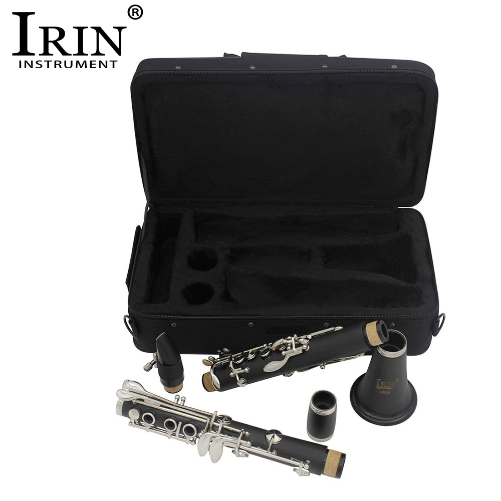IRIN 17 Key Clarinet Bb Flat High Quality Woodwind Instrument Bakelite Tube With Strap Cloth Case Accessory Set Music Gifts enlarge