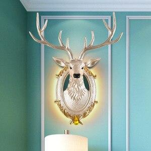Modern LED Creative Antlers Wall Lamp Nordic Decoration Living Room Bedroom Bedside Lights Lighting Cafe Industrial Wall Sconce