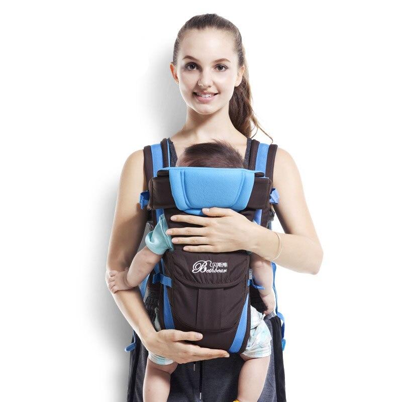 0-24 meses respirável frente enfrentando portador de bebê 4 em 1 infantil confortável estilingue mochila bolsa múmia cangurus envoltório