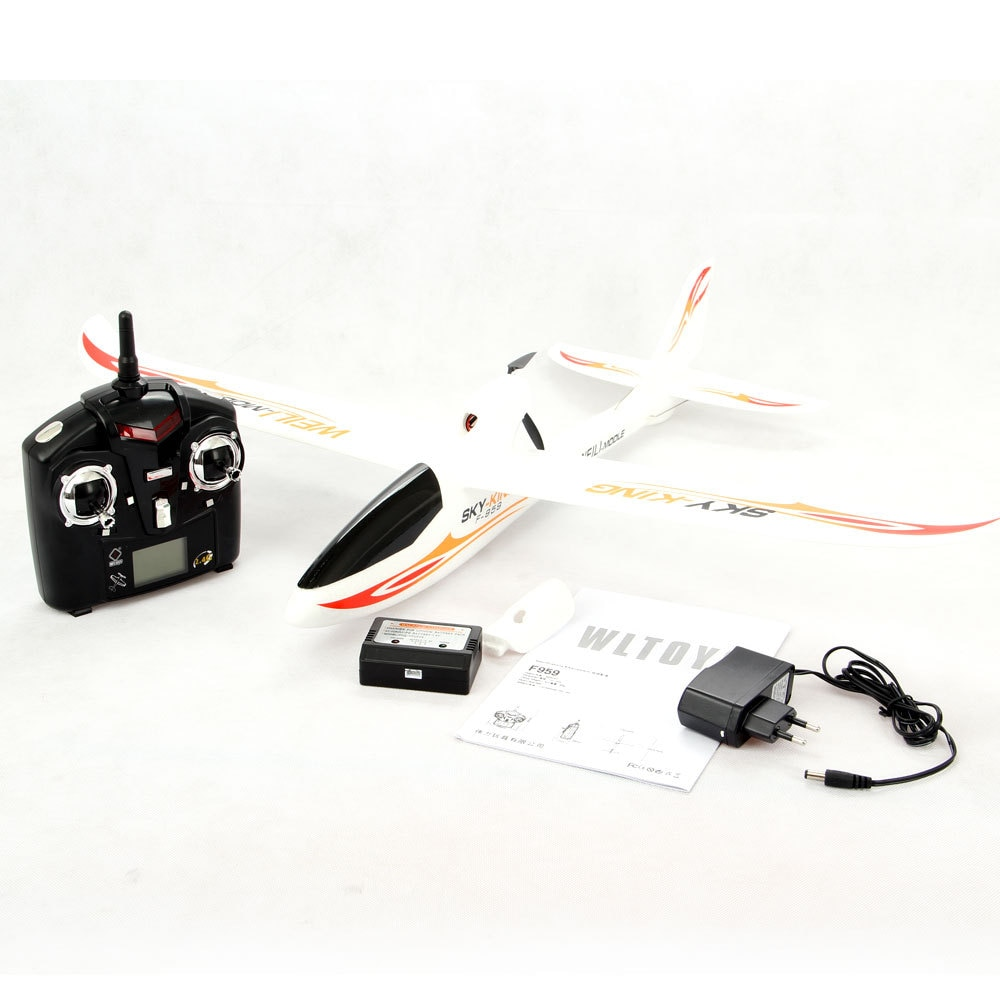 WLtoys F959s RC Airplane 3CH 2.4G  six-axis gyroscope  200 Meters Flying Distance Fixed Wing Remote Control Aircraft Toy Gift enlarge