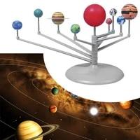 plastic solar planetarium astronomy system planetarium model kit astronomy science project diy toy for kids gift