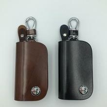 Porte-clés porte-clé pour Alfa Romeo   Sacoche de clés de couverture universelle de voiture, sac de portefeuille pour Alfa Romeo 159 Giulia Giulietta Mito