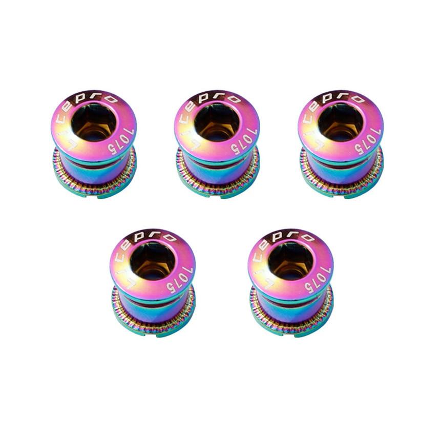 Litepro Mountain Bike Road Bike Single Disc Nails Electroplating Colorful Tooth Disc Screws Car Steel Folding Chain Wheel