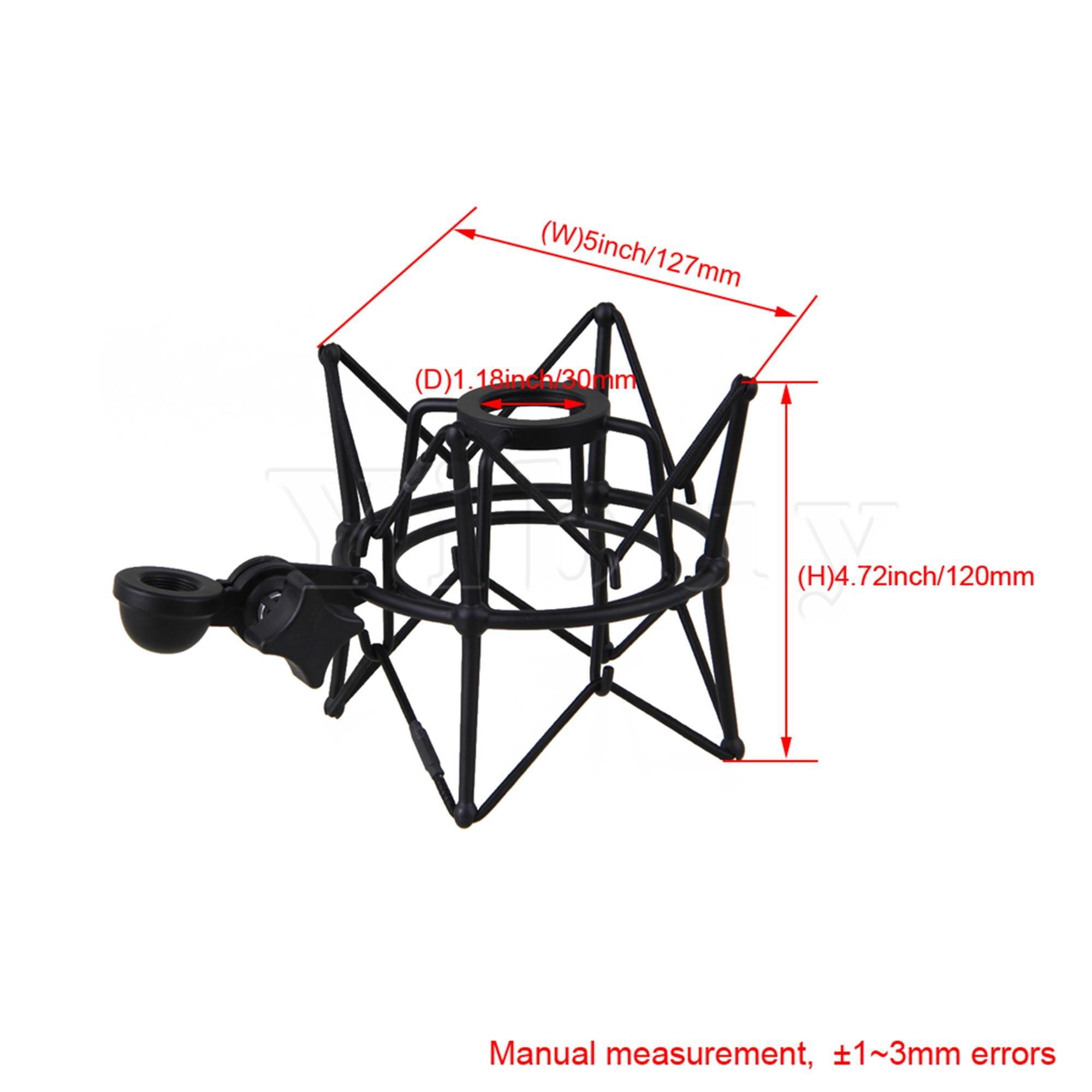Yibuy Black Metal Large Size Cylinder Spider ShockMount Holder for Newman U87 enlarge
