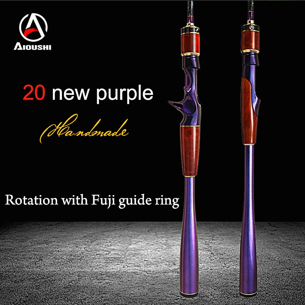 AIOUSHI Fishing lure fishing rod, super fast adjustment of two sections of carbon, Fuji Guide ring1.98 L/ML Solid Wood Handcraft enlarge