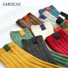 1 paire chaud femmes chaussettes rayé 3D chaussettes automne hiver Style noël hiver chaussettes pour femme femme heureuse chaussette Calcetines Meias