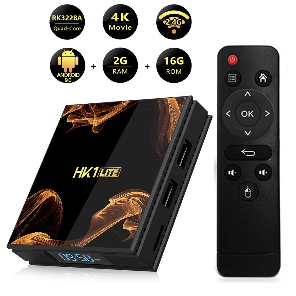 XGODY HK1 LITE Wifi TV Box RK3328A Quad-Core 4k HD HDMI 2,0 Android 9,0 caja de medios Ethernet 100M 2GB 16GB Set Top Box
