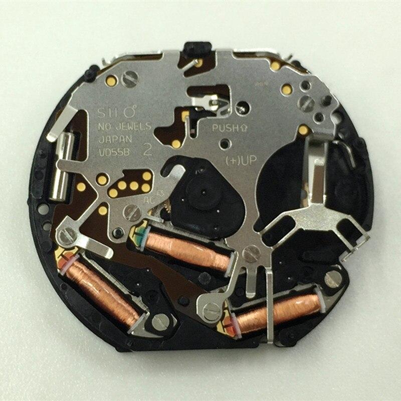 Assista movimento acessórios novo original japonês vd55 movimento de quartzo seis pinos 6912 segundos movimento sem bateria