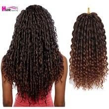 Afro Twist Braids Hair 16 Inch Curly Crochet Hair Loose Deep Wave Synthetic African Braiding Hair Ex