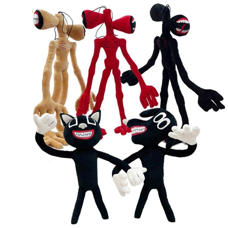 Гибкая сирена 55 см, плюшевые игрушки, голова сирены, страшная сирена, голова кошки, мягкие плюшевые куклы, игрушка, подарок, офисное украшени...