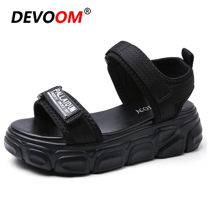 Nuevas Sandalias de plataforma para deportes al aire libre, senderismo, zapatos de verano para mujer, Sandalias negras gruesas para playa, Sandalias para mujer 2020
