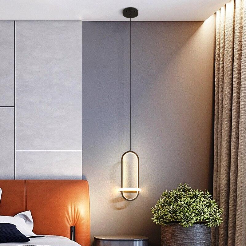 Modern LED Pendant lights For Dining Kitchen living Room Bar Restanturant lighting Matte Black gold lustre Chandelier Fixtures