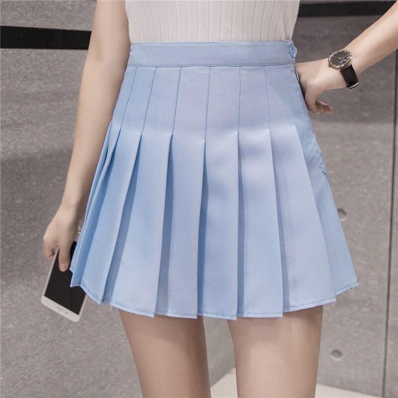 Fashion Women Skirt Preppy Style Skirts High Waist Chic Student Pleated Skirt Harajuku Uniforms Ladies Girls Dance Skirts