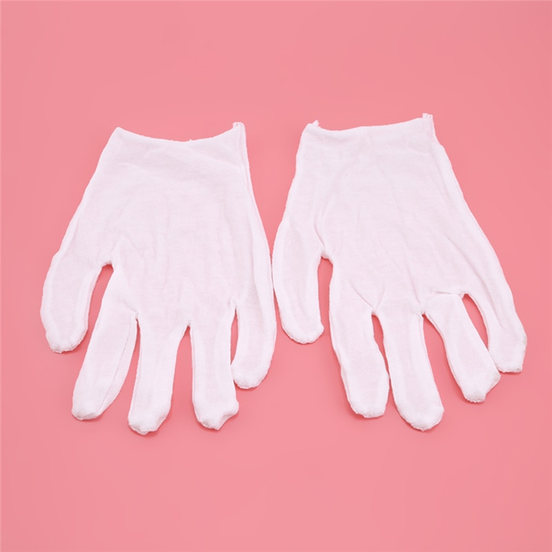 12 Pairs/pack Home Dust Cleaning Glove Children White Cotton Gloves Dancing Glove Kids White Etiquette Gloves Thin Medium Thick enlarge