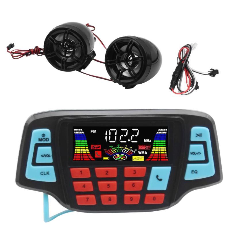 Motocicleta reproductor de música Mp3 Audio manos libres Bluetooth Estéreo altavoz Fm Radio sistema de Audio impermeable
