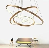 led 5 ring 60 80 100 80 60cm living room kitchen ceiling lamp led suspended lighting