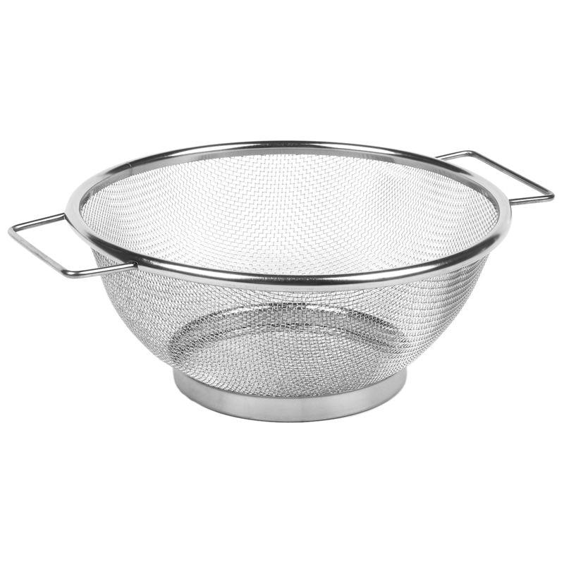 Tamiz colador de verduras escurridor de tazón de malla fina de acero inoxidable