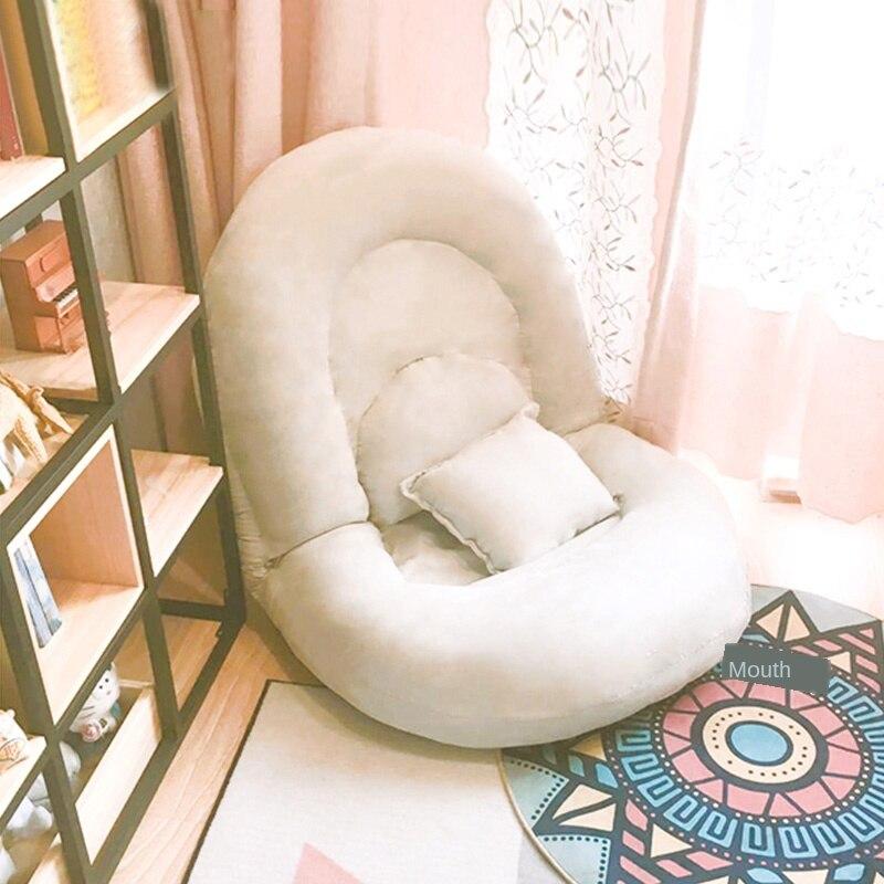 Preguiçoso sofá dobrável tatami único quarto varanda pequeno sofá cama encosto cadeira multi-posição ajuste engrossado almofada
