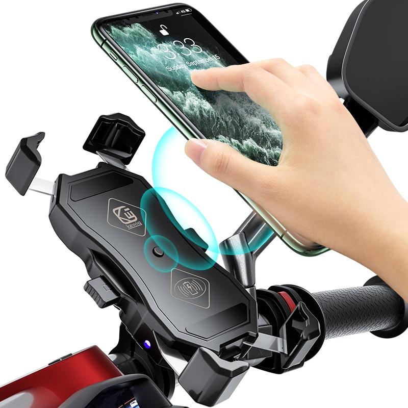 دراجة نارية شاحن حامل هاتف لاسلكي/سلكي شحن 15 واط/18 واط انتاج الطاقة + QC3.0 شحن سريع miauto حامل 360 درجة