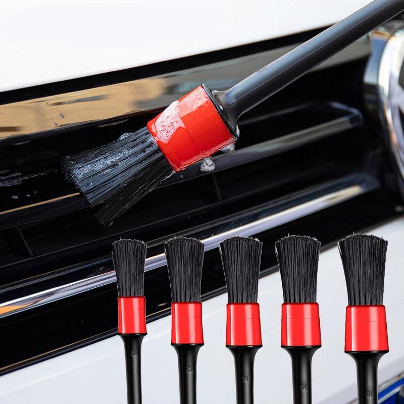 5 шт. автомобиль с подробным описанием кисточки Авто щетки для чистки щетки мытья автомобиля для чистки салона автомобиля