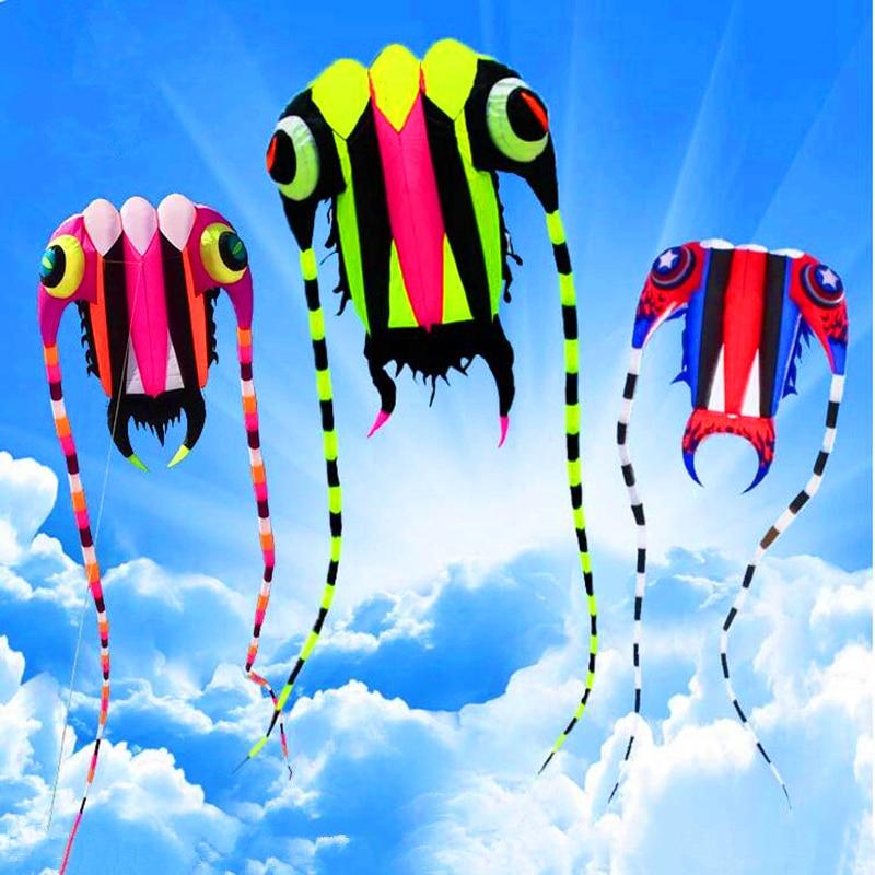 Envío Gratis nuevo diseño 7sqm trilobites suave cometas línea ripstop nylon tela kite weifang cometas fábrica pulpo Medusa