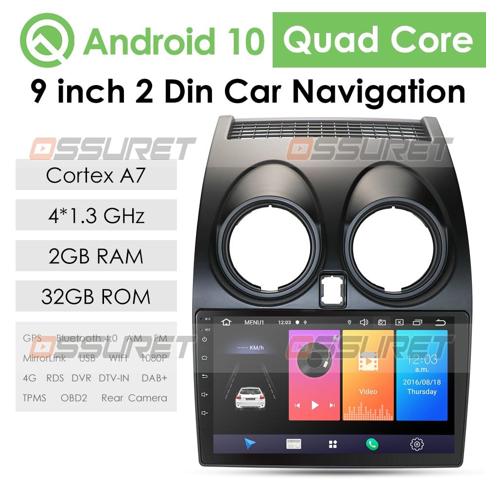 Новинка! Android 10,0 HD1080P CarPlay автомобильный Радио Multimidia видео плеер GPS для Nissan Qashqai 1 J10 2006-2013 2 din без dvd swc wifi