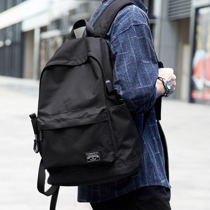 Fashion Backpacks Large Capacity Oxford Bookbag Waterproof Anti Theft Travel USB Charing School Bag