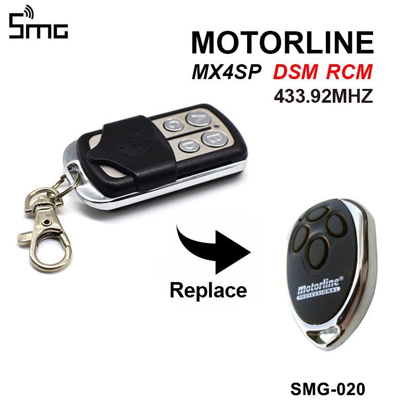 Portão de controle para motorline mx4sp dsm rcm remoto abridor porta garagem 433.92 mhz motorline clone controlador