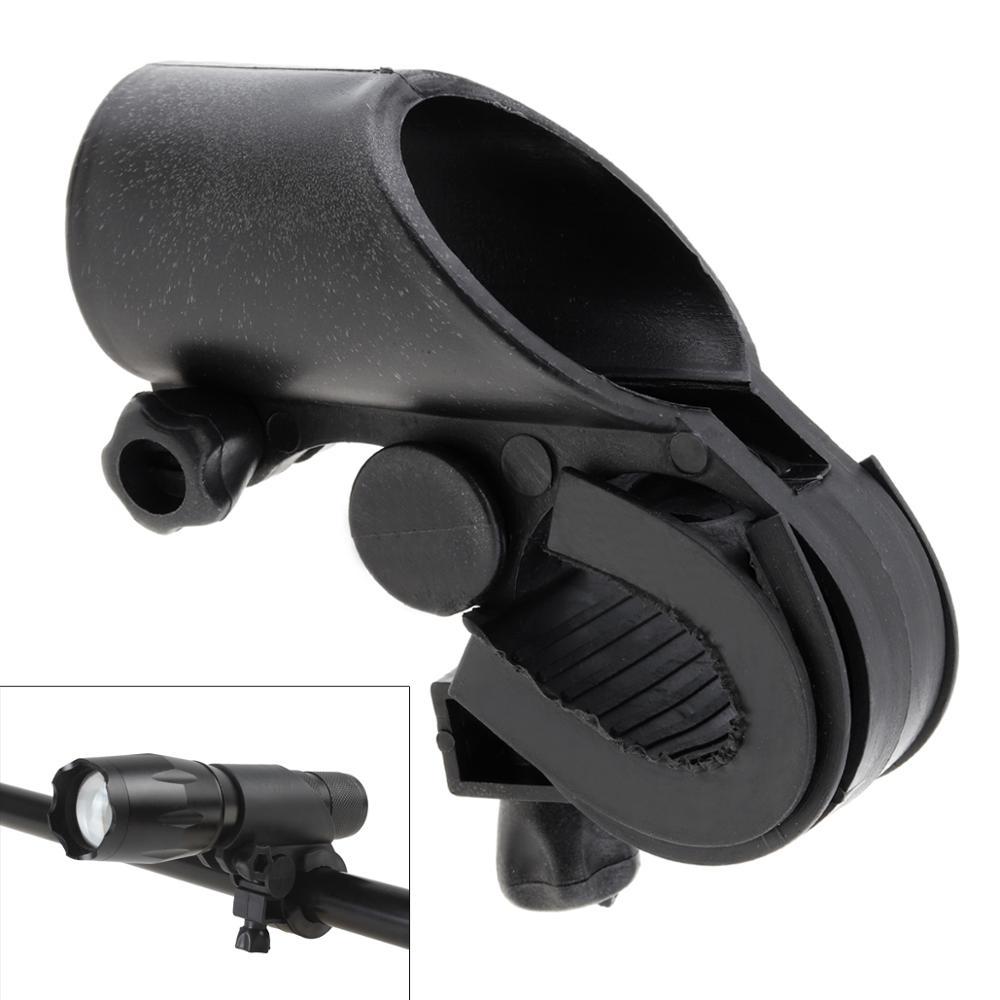 Soporte para linterna LED, soporte para linterna Flash, abrazadera de Clip para bicicleta, soporte de montaje para lámpara de bicicleta