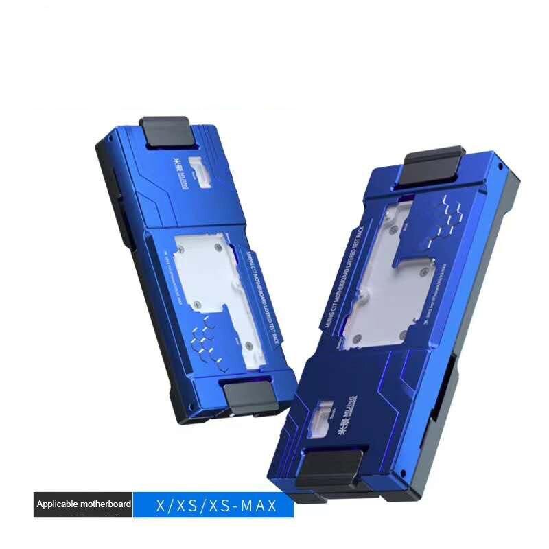 MJ C17 isociket Jig para iPhone X XS XSMAX placa lógica herramienta de diagnóstico rápido placa base soporte de fijación de prueba