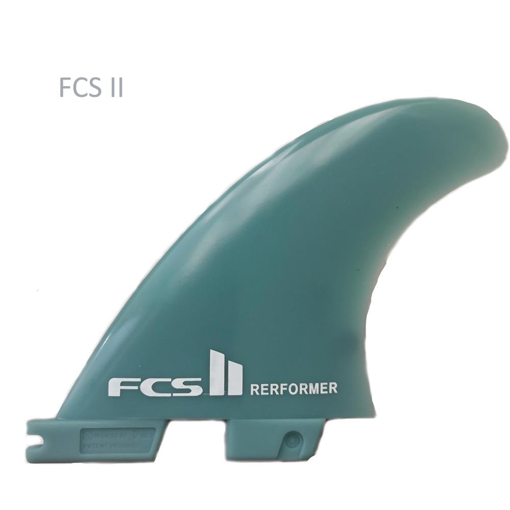 Kunststoff finber glas FCS II surf fin natur farbe