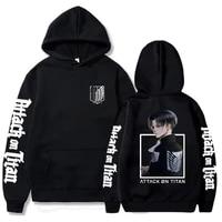 attack on titan anime cosplay hoodie autumn winter fleece hooded sweatshirts harajuku streetwear unisex pullover tops