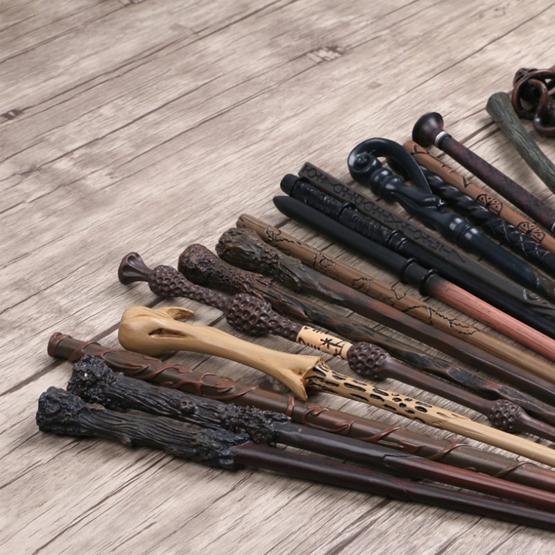 27 Kinds of Metal Core HP Dumbledore Magic Wands Cosplay Wand Voldemort Hermione Lucius Sirus Magical Sticks Without Box