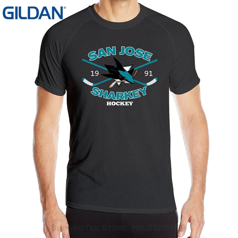 Hombre mejor venta Kawaii Annabelle hombres San Joses tiburón manga corta Sportsy verano Camisetas Unisex negro camisetas