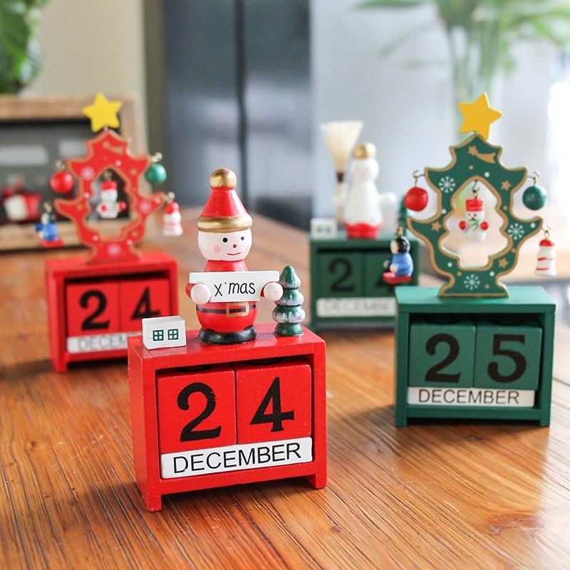 Madeira natal decoração nutcracker fantoche advento calendário natal presente boneco de neve contagem regressiva calendário ano novo calendário de aniversário