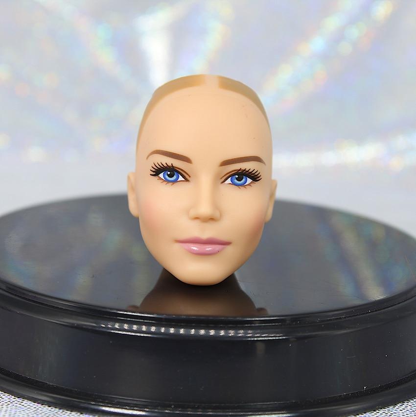 Novo ken príncipe boneca dald cabeça nenhum cabelo bom maquiagem boneca cabeça brinquedos peças rosto verde preto branco senhora boneca brinquedo cabeça menina brinquedos diy