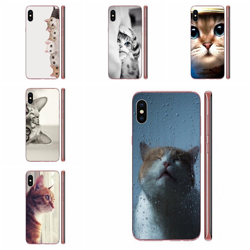 Gato curioso a escondidas para Huawei Honor 5C 5X 6A 6X 7 7A 7X 8 8A 8S 8X 9 10 30 Lite Pro Y6 II Y7 Y9 primer 2019 cubiertas móviles