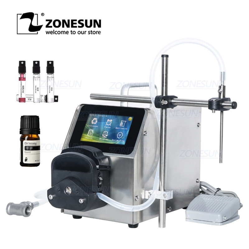 ZONESUN ZS-YTPP6001 1-100ml Digital Quantitative Peristaltic Pump eye drops Perfume Essential Oil Liquid Bottles Filling Machine