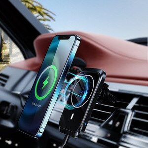 QI 15W Big Power Magnetic Car Fast Wireless Charger Stand for Huawei  iPhone XS Max Smart Induction Car Chargers Wireless Stand