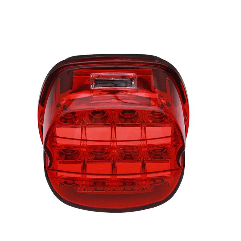 LED دراجة نارية ضوء الفرامل LED الضوء الخلفي وقف مؤشر ضوئي موتو الذيل مصباح ل هارلي بوبر المروحية مقهى المتسابق الأحمر