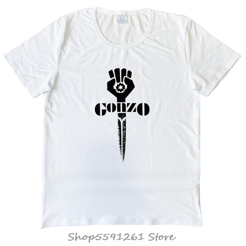 Gonzo t shirt hunter s thompson jornalismo 1970shirt s cartoon t camisa masculina nova moda tshirt solto tamanho superior engraçado
