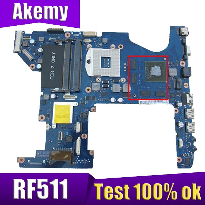AKEMY BA92-08556A BA92-08556B اللوحة الأم للكمبيوتر المحمول لسامسونج RF511 HM65 DDR3 اللوحة الرئيسية اختبار كامل