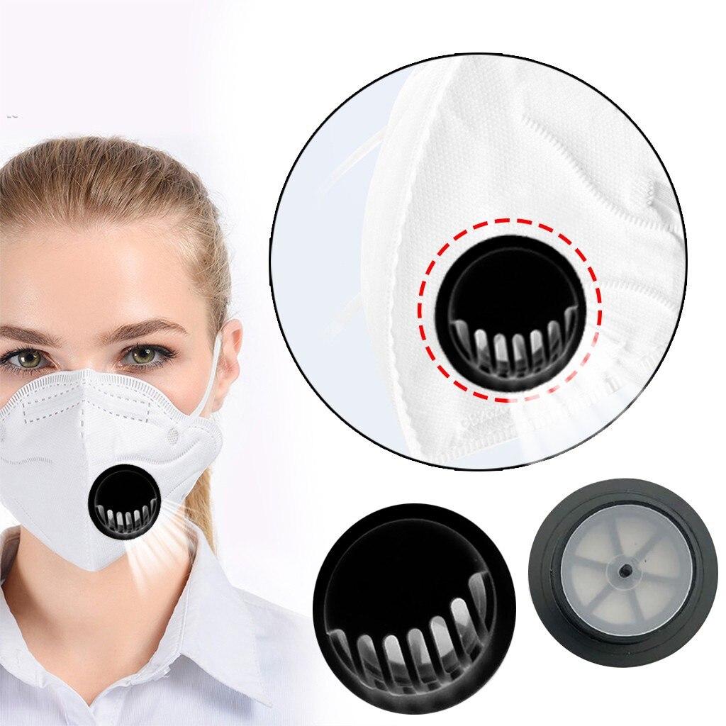 50 unidades de válvulas de respiración negras para exteriores, antipolvo, filtro de boca y cara, reemplazos, accesorios para válvulas de respiración antineblina